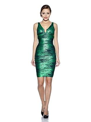 Corizzi & Absolu Vestido Bandas Abertura Escote Cóctel (Verde)