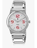 Ds 2114 Rd01 Silver/White Analog Watch Dvine