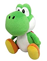 "Sanei Super Mario All Star Collection 8"" Yoshi Plush, Small"