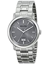 Bulova Classic Analog Grey Dial Men's Watch - 96B200