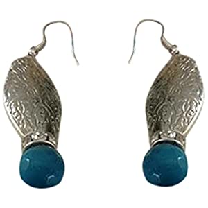 The Desi Soul German Silver with Teal Agates