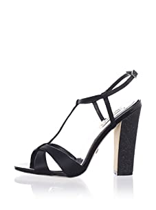 Badgley Mischka Platinum Women's Jenie T-Strap Sandal (Black)