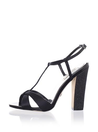 Badgley Mischka Platinum Women's Jenie T-Strap Sandal (Black)