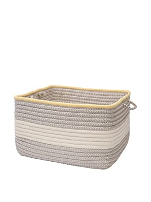 Colonial Mills Color Block Square Basket, (Shadow Yellow)