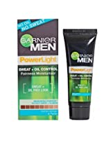 Garnier Men Power Light Sweat + Oil Control Fairness Moisturiser - 20g (Pack of 3)