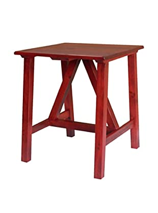 2 Day Designs Pine Creek End Table, Rouge