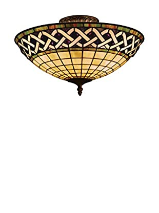 Artistic Lighting Angel Wing 3-Light Semi-Flush, Classic Bronze