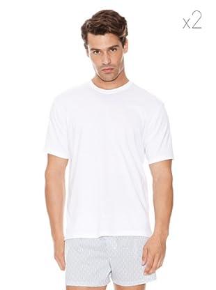 DIM Camiseta Pack 2 Cuello Redondo (Blanco)