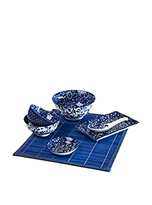 Enjoy Home  Sushi Set 7 tlg. Oriented blau