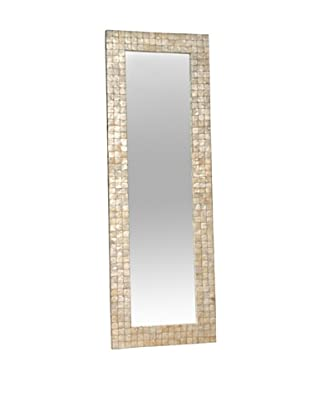 Jeffan Capiz Shell Chesapeake Mirror, White