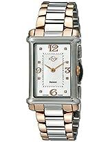 GV2 by Gevril Womens 8402 Principessa Analog Display Quartz Two Tone Watch