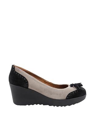Liberitae Zapatos tacón Borlas (Negro)