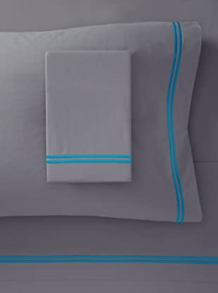 Mason Street Textiles Two Cord Sheet Set (Grey/Artic Blue)
