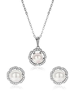 United Pearl Set catenina, pendente e orecchini argento 925