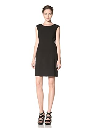 Calvin Klein Women's Cap Sleeve Solid Dress (Black)