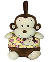 Soft Buddies Monkey Plush Blanket - 40 inch Multicolor