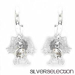 Silver Selection American Diamond Metal Earrings
