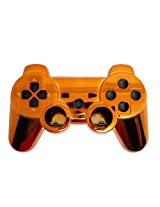 Game Xcel Orange Chrome Finished Replacement Playstation 3 Controller Shell Case Kits Buttons