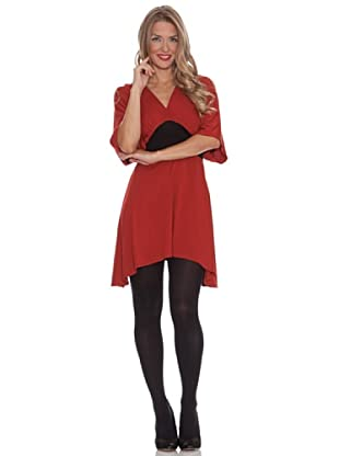 Divina Providencia Vestido Bicolor (Rojo)