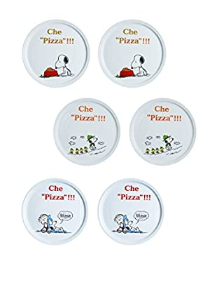 Molecuisine Set Plato Para Pizza 6 Uds. Snoopy Multicolor