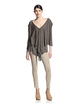 Rick Owens Lilies Women's Draped Top (Dark Dust)
