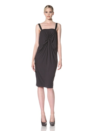 Zero + Maria Cornejo Women's Ado Twisted Front Dress (Graphite)