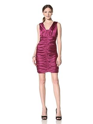 Marc New York Women's Sleeveless Ruched Dress (Purple)
