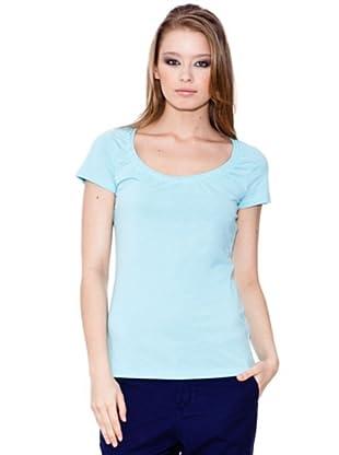 Esprit Camiseta Scoop (Celeste)