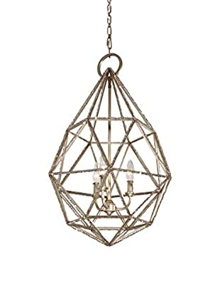 Feiss 3-Light Marquise Pendant, Burnished Silver