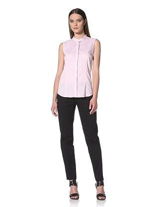 JIL SANDER NAVY Women's Sleeveless Button Front Shirt (Pink)