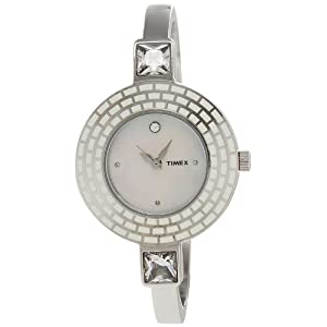 Timex Bangle Analog Mother of Pearl Dial Women's Watch - TI000N30200