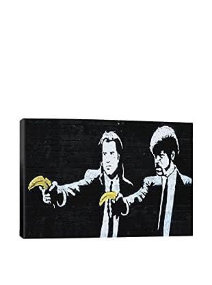 Banksy Pulp Fiction Bananas Giclée On Canvas