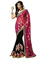 Manvaa Fascinating Multicolor saree with blouse piece