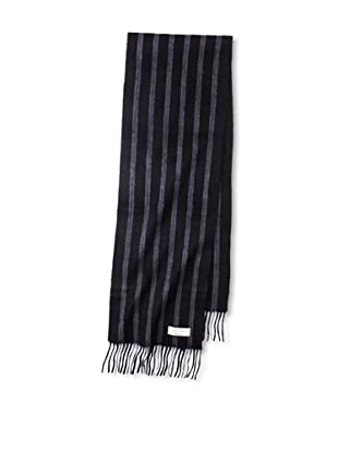 Joseph Abboud Men's Wide Stripe Scarf (Black)