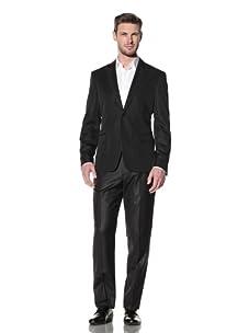 Versace Collection Men's City Fit Jacquard Evening Jacket (Charcoal)