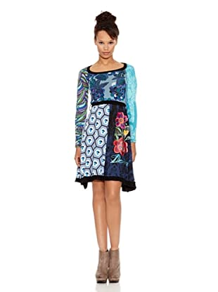 Desigual Vestido Azulito (Turquesa)