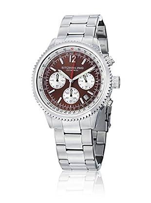 Stührling Uhr mit Japanischem Uhrwerk Monaco 669B silberfarben 42 mm