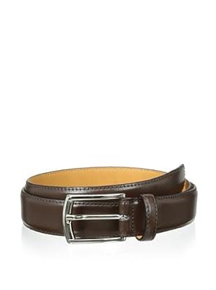 Leone Braconi Men's Soave Slim Belt (Brown)
