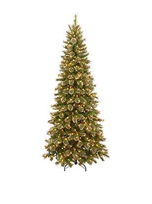 National Tree Company 7.5' Glittery Gold Pine Slim Hinged Tree
