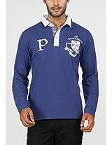 Paani Puri Men's Polo (MPLPP112_Royal Blue_Small)