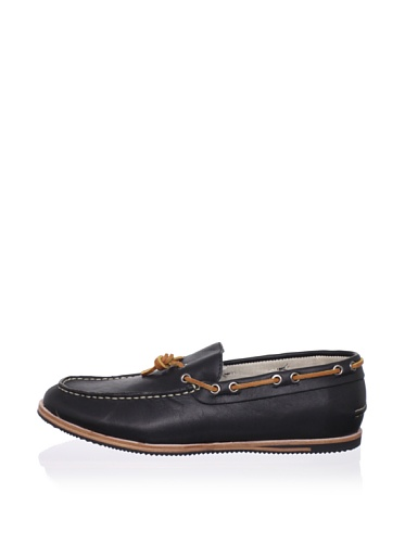 Ben Sherman Men's Alex Boat Shoe (Black)