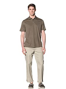 Perry Ellis Men's 3-Button Polo Shirt (Olive)