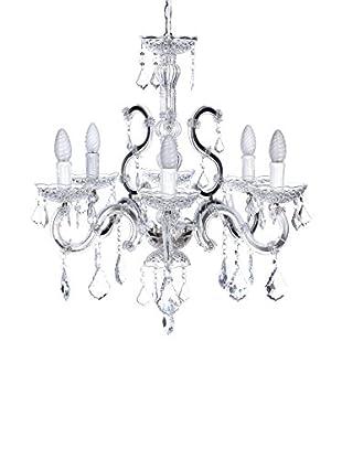 Romantic Style Lámpara De Suspensión Plata