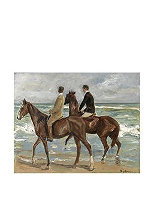 Legendarte Lienzo Due Cavalieri Sulla Spiaggia di Max Liebermann