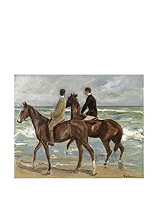 Legendarte Leinwandbild Due Cavalieri Sulla Spiaggia di Max Liebermann