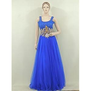 Craftsvilla Indian Bollywood Partywear designer Long Blue Gown