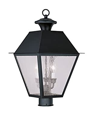 Crestwood Mason 3-Light Post Head, Black