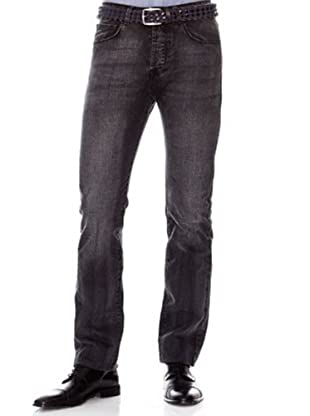 Cortefiel Pantalón Regular Slim (Negro)
