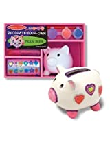 Melissa & Doug Decorate Your Own Piggy Bank  2-Pack