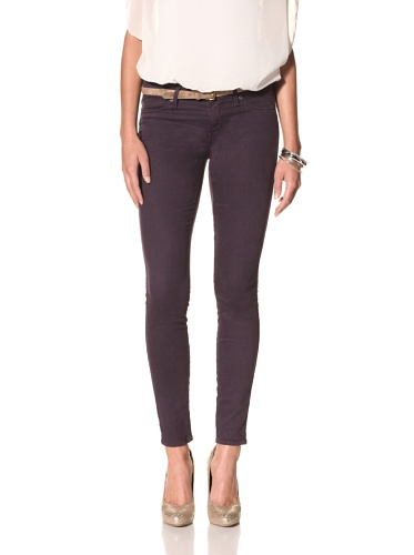 Rich & Skinny Women's Skinny Jean (eggplant)